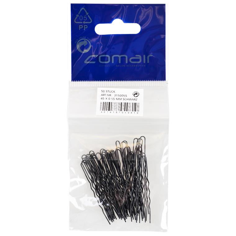 Harnadle za kosu metalne COMAIR Crne 45x0.55mm 50/1