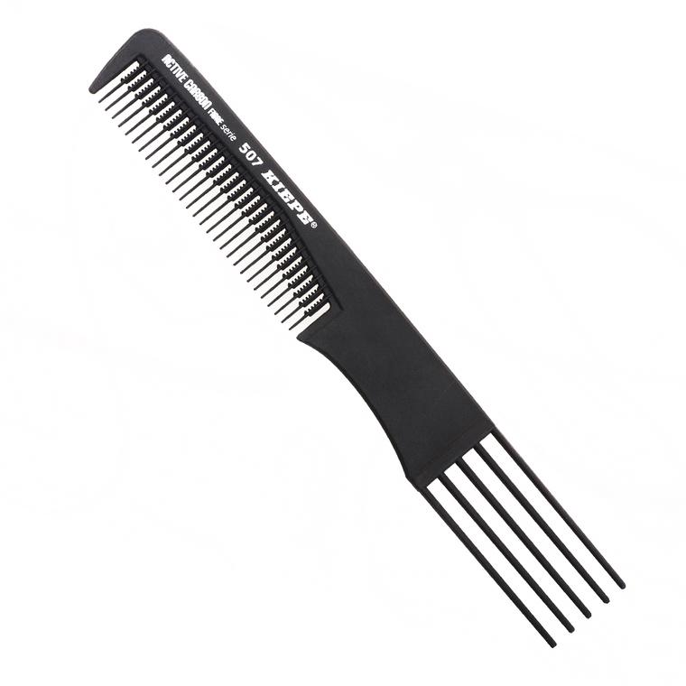 Češalj za kosu sa iglama antistatički KIEPE Active Carbon 507 Crni