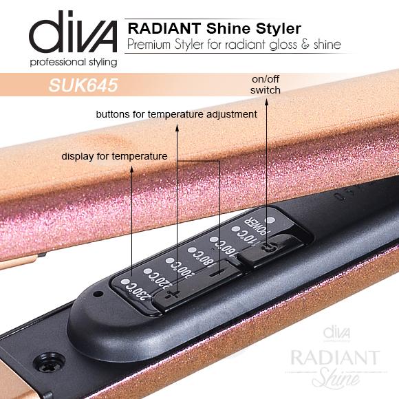 Presa za kosu Radiant Shine SUK645 Diva sa keramičkim pločama