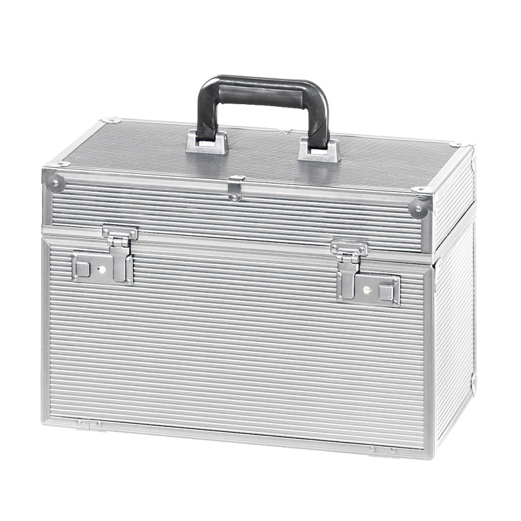Kofer za frizerski pribor aluminijumski COMAIR Meister Srebrni 41x22x27cm
