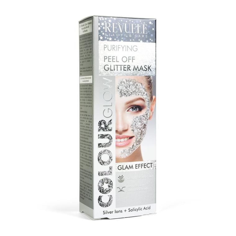 Gliter maska za dubinsko čišćenje kože lica REVUELE Colour Glow 80ml