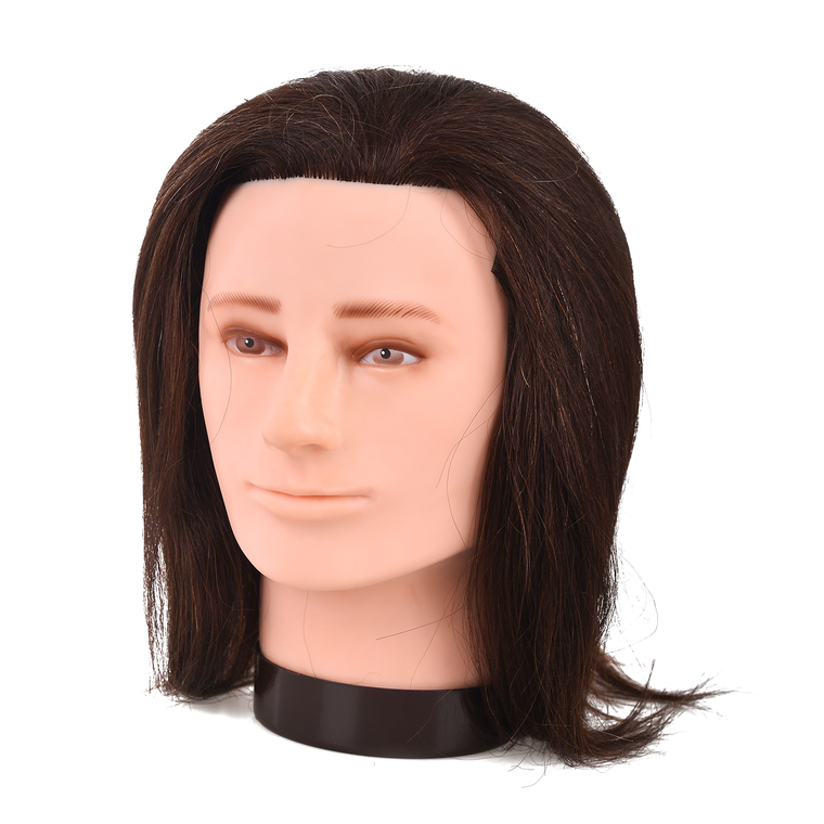 Trening lutka sa prirodnom kosom COMAIR Gentleman Smeđa 35cm