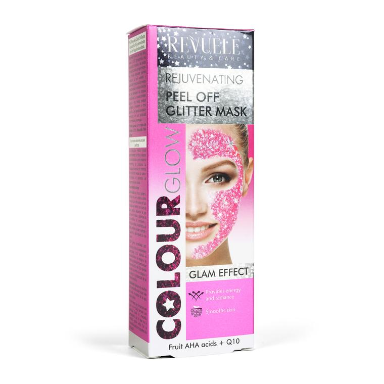 Gliter maska za podmlađivanje kože lica REVUELE Color Glow 80ml