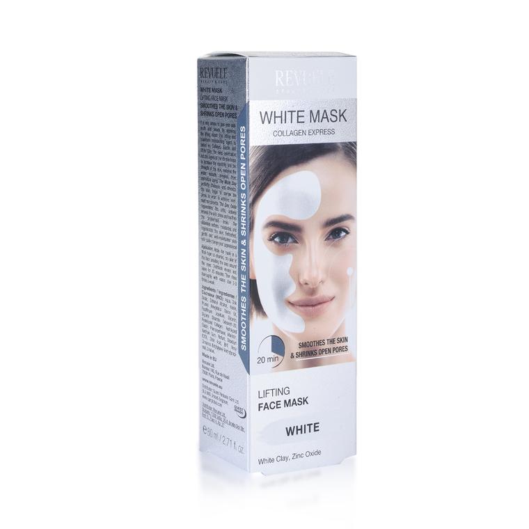 Maska sa belom glinom za zatezanje kože lica REVUELE Lifting 80ml