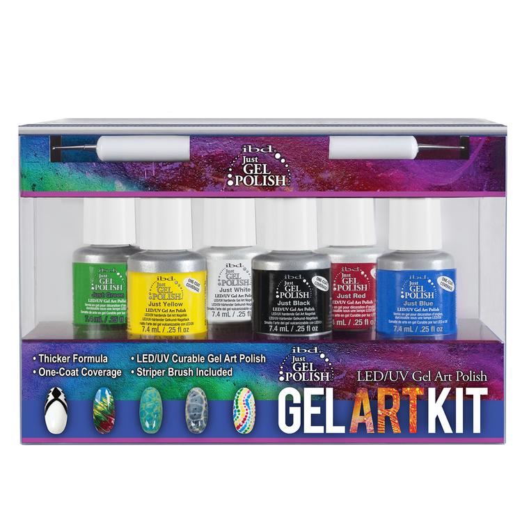 Set trajnih lakova IBD JUST GEL POLISH Gel Art Kit 6x7.4ml