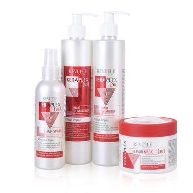 Šampon za rekonstrukciju i oporavak kose, REVUELE Keraplex 3D 335ml