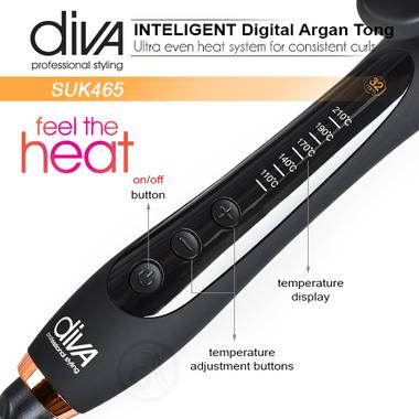 Figaro za kosu Feel The Heat SUK465 Diva sa uljem argana i keramičkom cevi 32mm