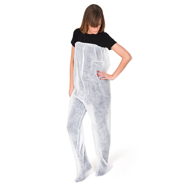 Bele kozmetičke pantalone od papira ROIAL