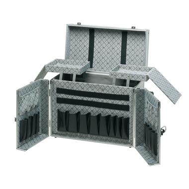 Kofer za frizerski pribor aluminijumski COMAIR Theatro Srebrni 42x20x33cm