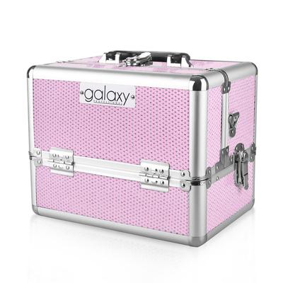 Kofer za šminku, kozmetiku i pribor GALAXY TC-1432PG Pink gliter dizajn