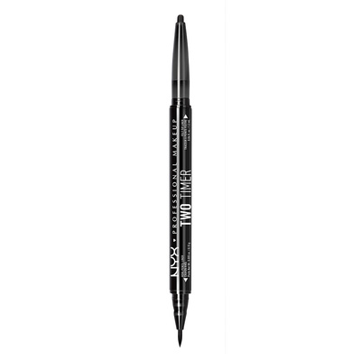 Dvostrani ajlajner NYX Professional Makeup Two Timer Jet Black TT01 0.15g+1.2ml