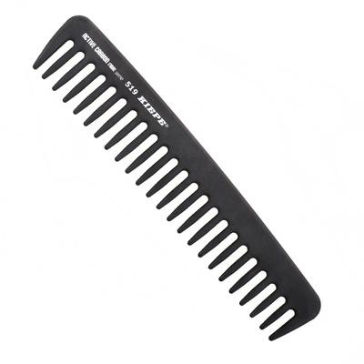 Češalj za kosu antistatički KIEPE Active Carbon 519 Crni