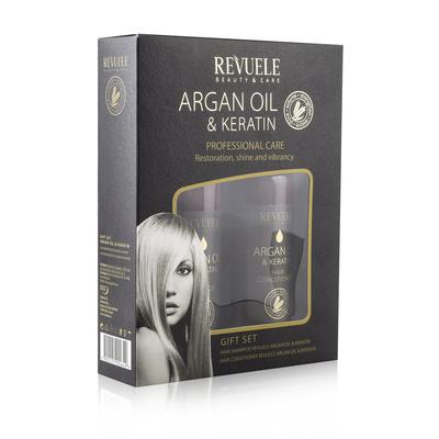 Gift set REVUELE Argan Oil & Keratin 2x250ml
