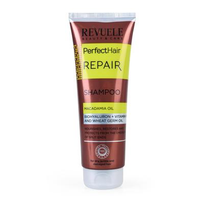 Šampon bez sulfata za oštećenu kosu REVUELE Perfect Hair 250ml