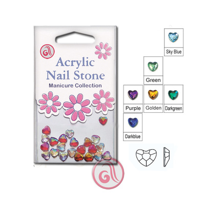 Cirkoni za Nail Art HAS48 AB 6.0mm 48/1 Crveni