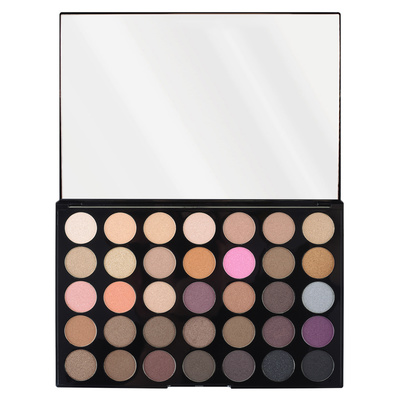 Eyeshadow Palette Pro HD REVOLUTION MAKEUP Amplified 35 Neutrals Warm 30g