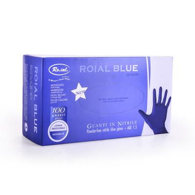 Rukavice od nitrila bez pudera ROIAL Plave S 100/1