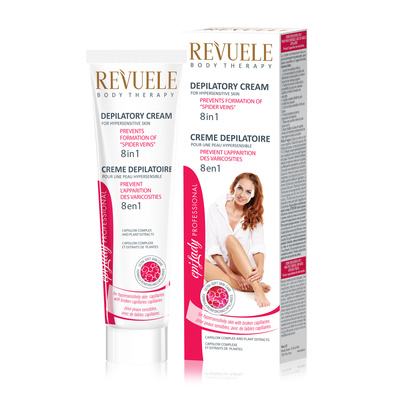 Krema za depilaciju osetljive kože 8u1 REVUELE 125ml