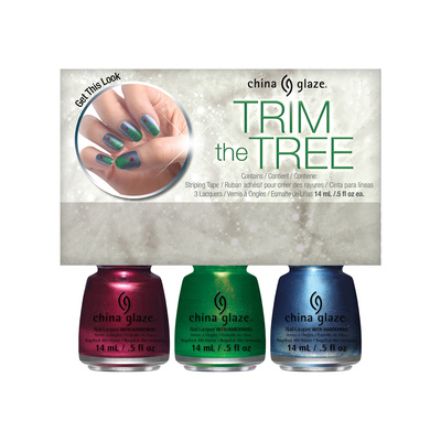 Set lakova za nokte CHINA GLAZE Trim The Tree 3x14ml