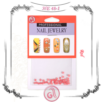 Nail Art Decoration HE4801 Red