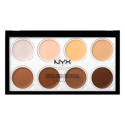 Kremasta paleta za konturisanje lica NYX Professional Makeup Cream Highlight & Contour Palette HCCPP01 8x2g