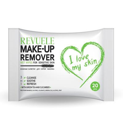 Maramice za skidanje šminke za osetljivu kožu REVUELE Sensitive Skin 20/1