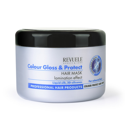 Hair Mask with Lamination Effect REVUELE Colour Gloss & Protect 500ml