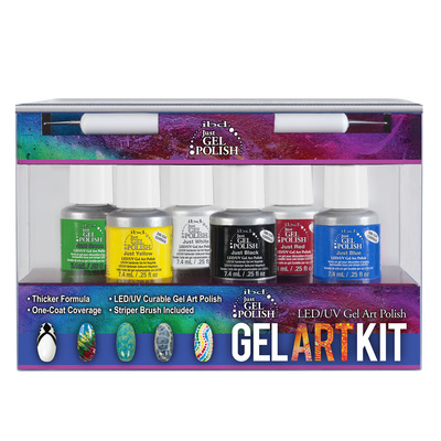 Set LED/UV trajnih lakova IBD Gel Art Kit 6x7.4ml