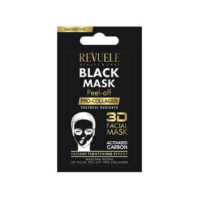 Black Mask for Tightening Effect with Pro Collagen REVUELE Peel-Off 7ml