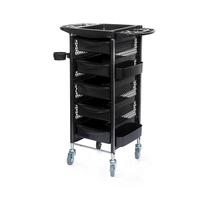 Frizerska pomoćna radna kolica za viklere i frizerski pribor DP-5112 sa 5 fioka i plastičnim držačem za fen