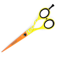 Makaze za šišanje FLUO žuto-narandžaste