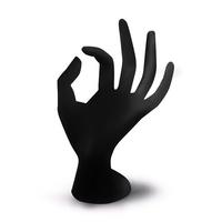 Trening ruka za vežbanje staklena GH2 Crna