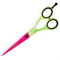 Makaze za šišanje FLUO zeleno-pink