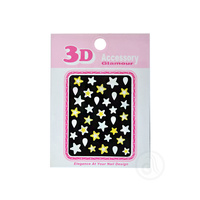 Nalepnice za nokte zvezdice 76707 Žuto/Bele