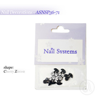 Nail Decorations Cherry With Zircon ASNSP3671 Black