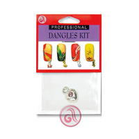 Nail Decoration Silver Heart D6