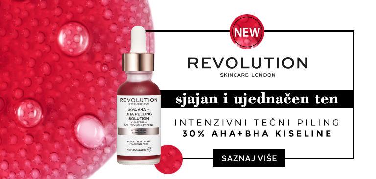 serum za lice tecni hemijski piling AHA kiseline revolution skincare