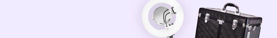 Makeup koferi sa svetlom i Ring Light