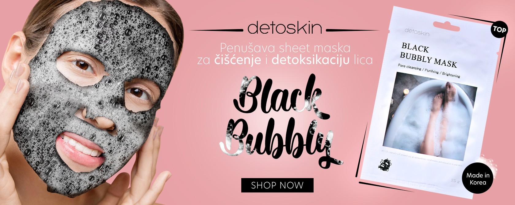 Black bubbly penusava maska