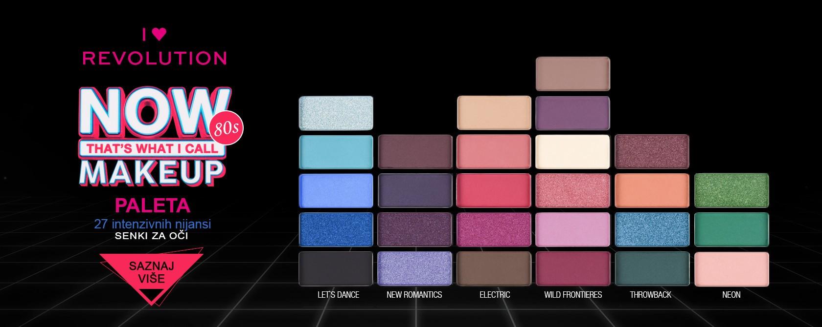 eyeshadow palette 80s i heart revolution