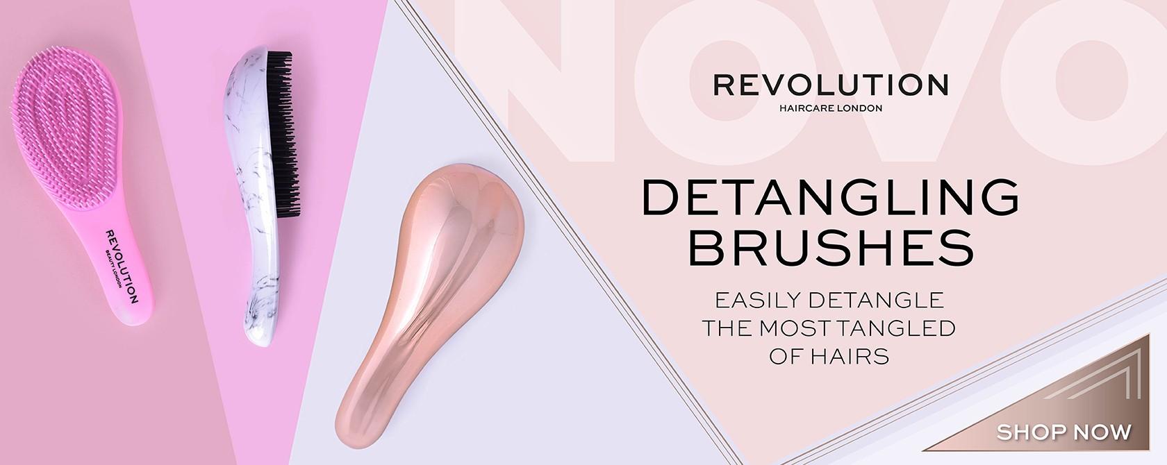 NEW Revolution hair brushes