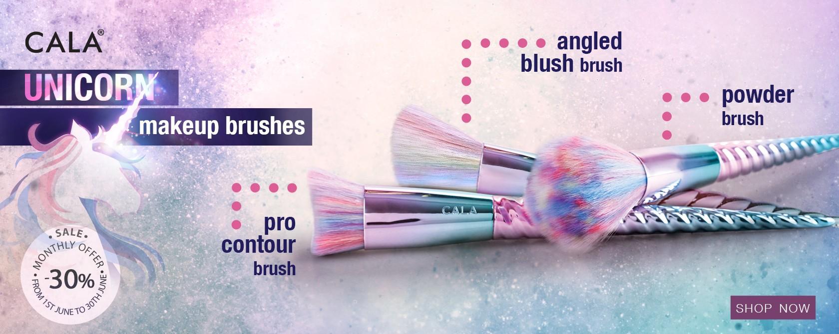 Cala Unicorns makeup brushes