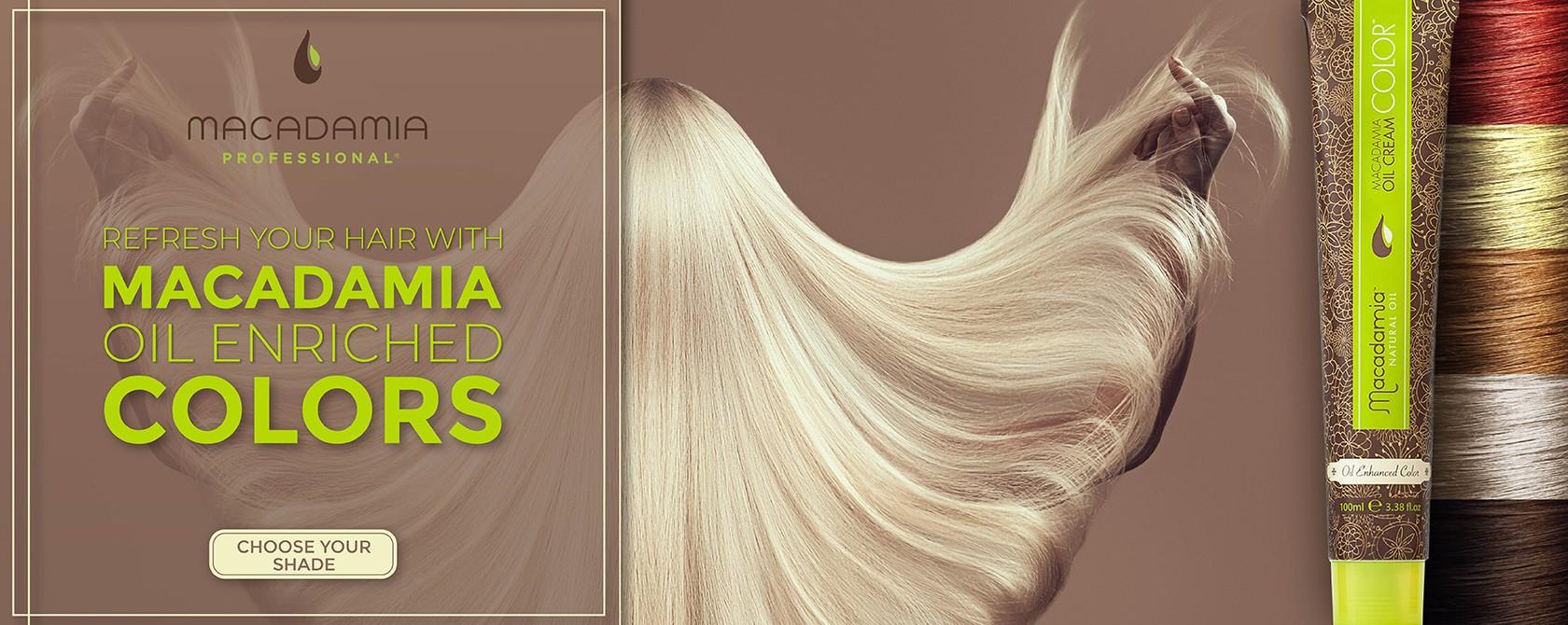 Macadamia hair colors