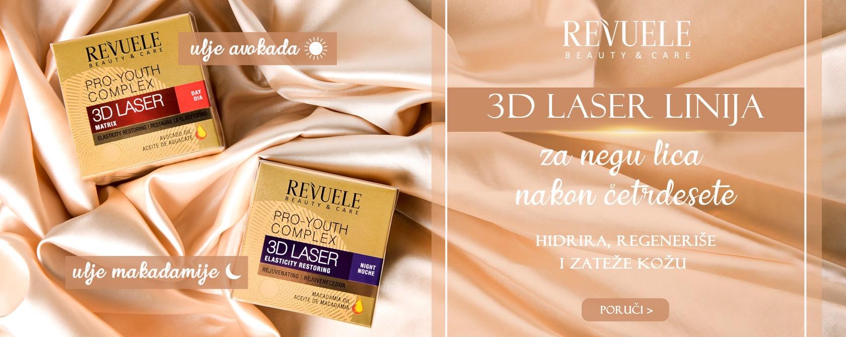 Revuele 3d laser kreme