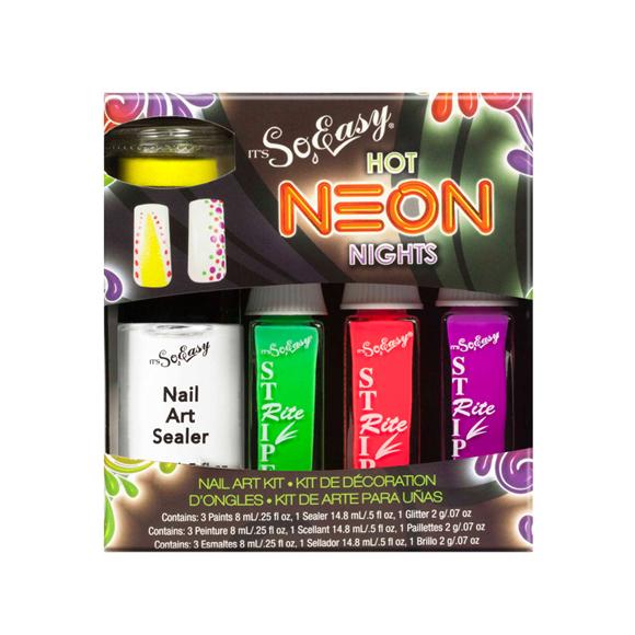 Striping lakovi za Nail Art u setu IT'S SO EASY Hot Neon Night 5/1