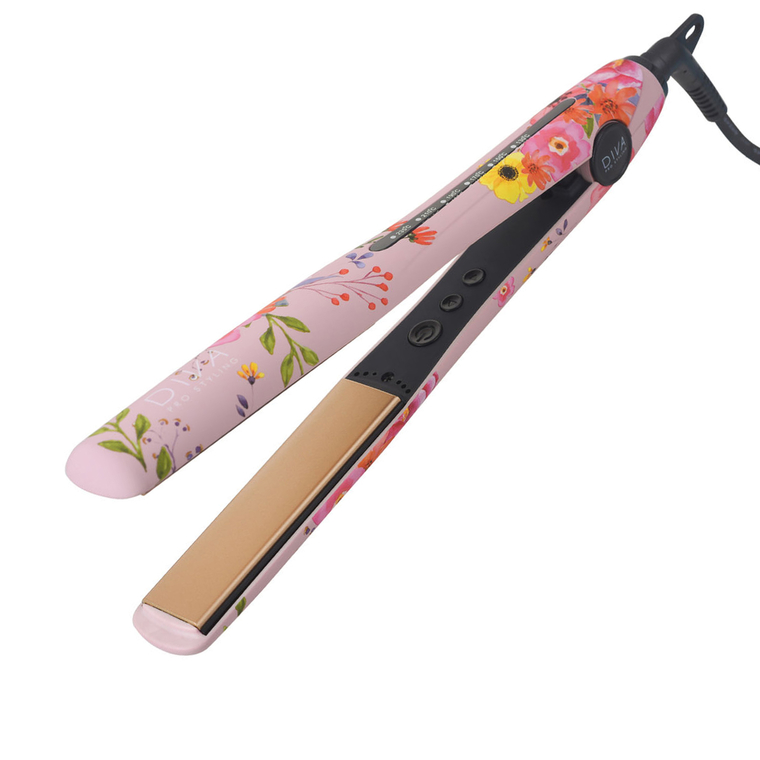Hair Straightener with Ceramic Plates DIVA Floral Elite Styler Blossom