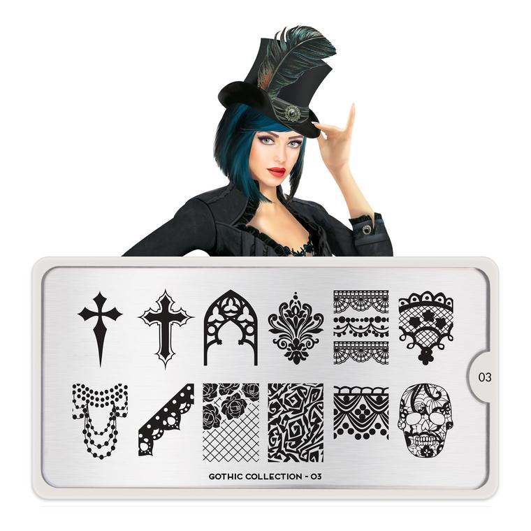 Šablon za pečate MOYOU Gothic 03