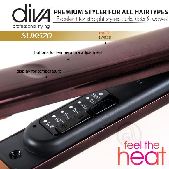 Presa za kosu sa keramičkim pločama DIVA Feel the Heat SUK620
