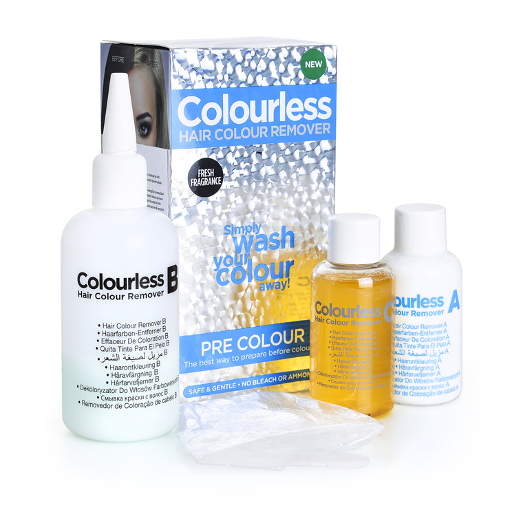 Skidač farbe bez blanša i dubinsko čišćenje kose COLOURLESS Pre Colour 3x60ml