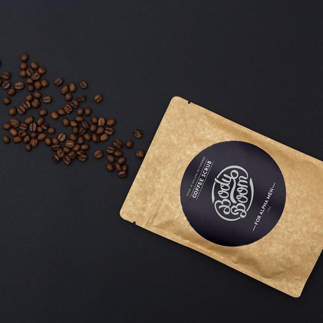 Piling od kafe za telo za muškarce BODYBOOM Alfa Men 100g